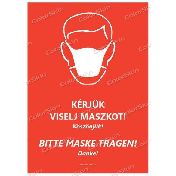 Kérjük viselj maszkot! Magyar-német nyelven v2
