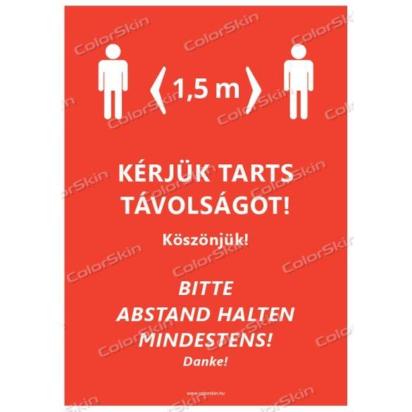 Kérjük tarts távolságot! Magyar-német nyelven