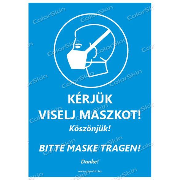 Kérjük viselj maszkot! Magyar-német nyelven