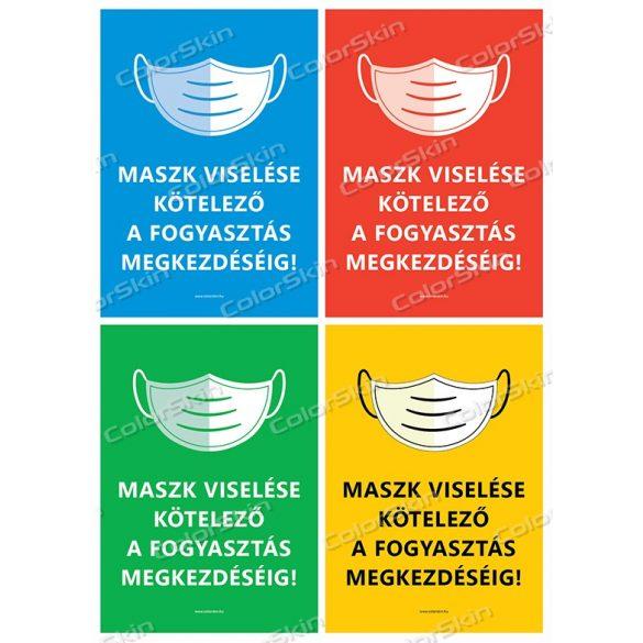 Éttermi maszk használatra felszólító matrica v2