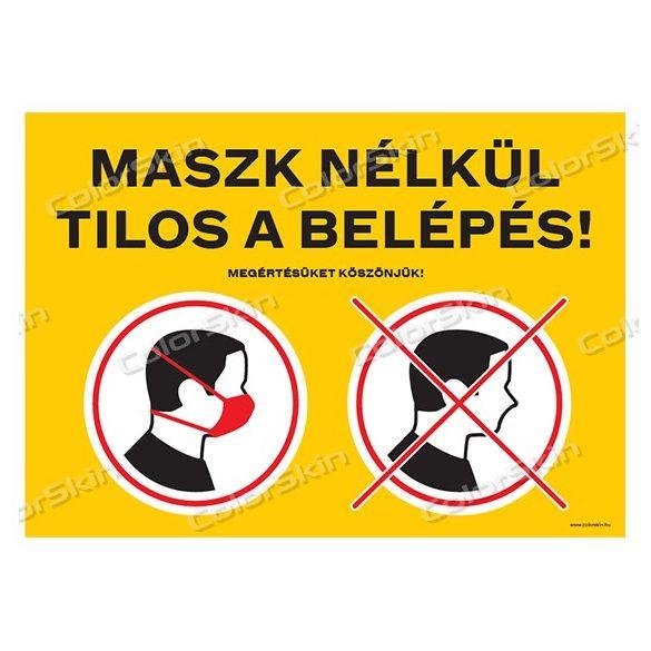 Maszk nélkül tilos a belépés