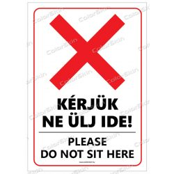 Kérjük ne ülj ide! - két nyelven