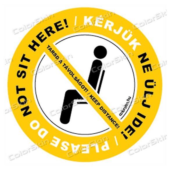 Kérlek ne ülj ide körmatrica - két nyelven