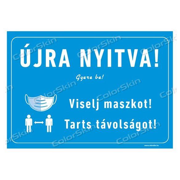Újra nyitva! két nyelven