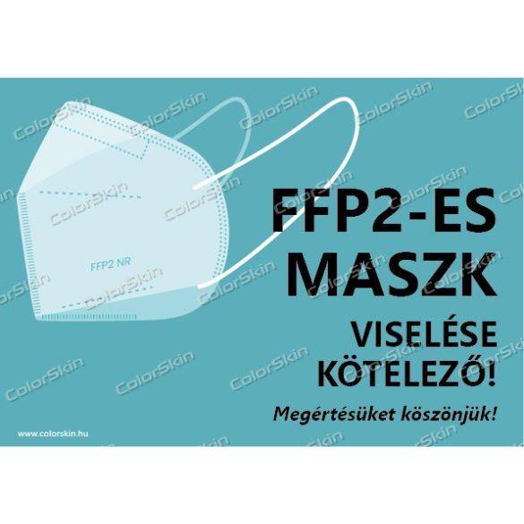 FFP2-es maszk viselése kötelező! matrica