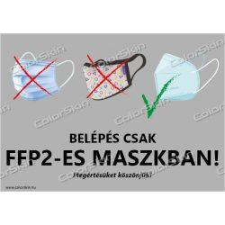 FFP2-es maszk viselés