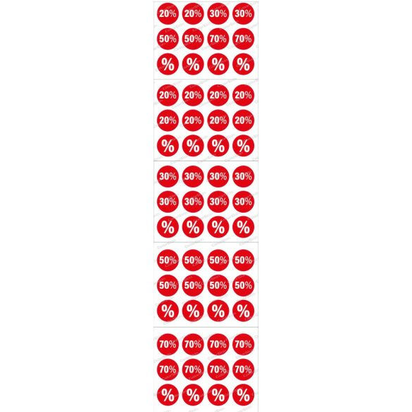 Matrica csomag árcsökkentésekhez 10 cm-es átmérővel