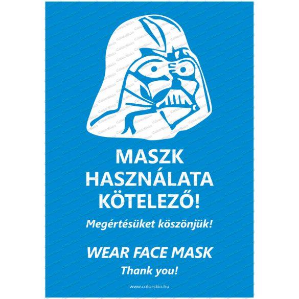Felszólítás maszk viselésre humoros formában két nyelven