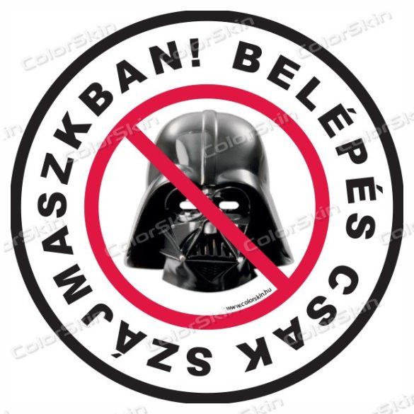 Belépés csak szájmaszkban körmatrica - Darth Vader