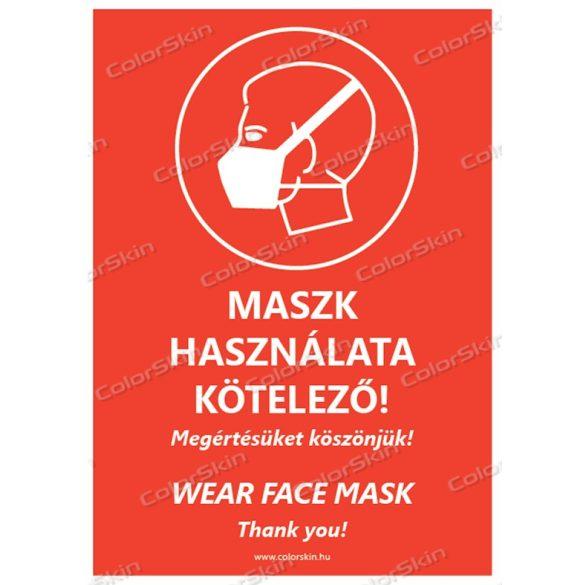 Álló formátumú információs tábla - Maszk két nyelvű v2