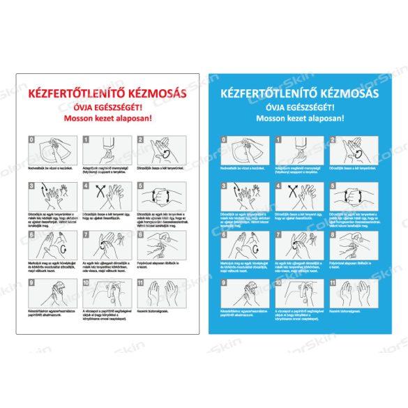 Álló formátumú információs tábla - kézmosás technika