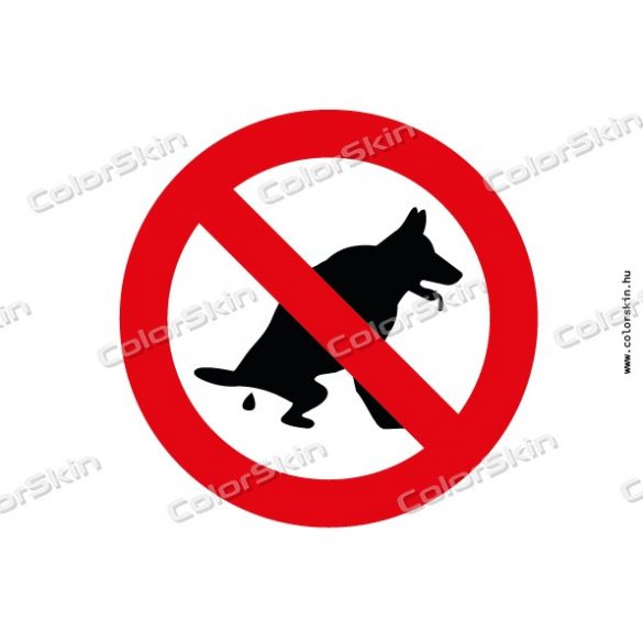 Nem kutya illemhely tábla