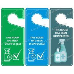 """Kilincsakasztó """"This room has been disinfected!"""""""