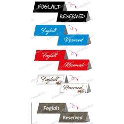 Foglalt / Reserved asztali jelző