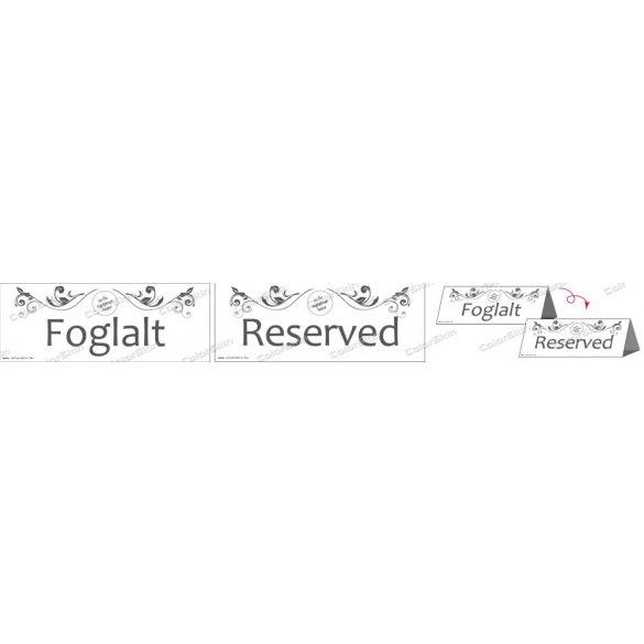 Foglalt / Reserved asztali jelző saját logóval