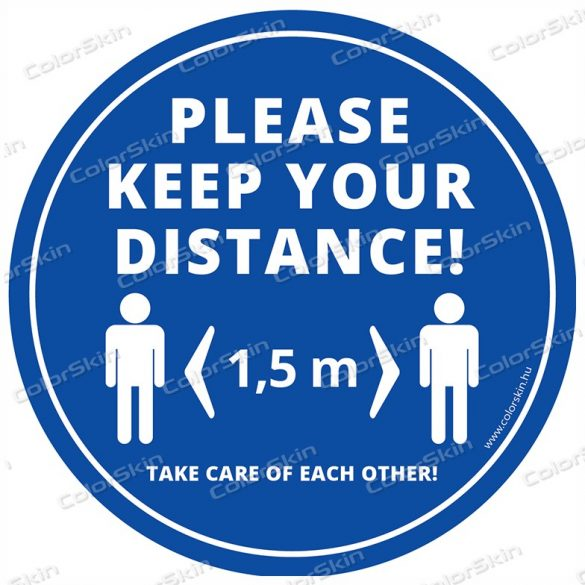 """""""Tarts távolságot!"""" padlómatrica angol nyelven - Please keep your distance! v2"""