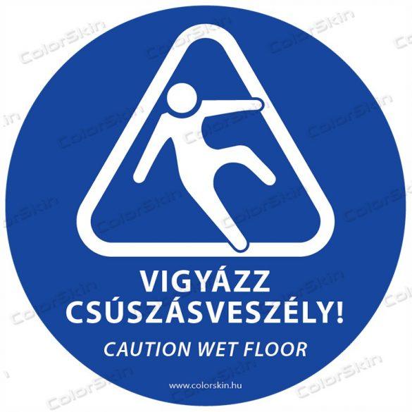 Csúszásveszély padlómatrica