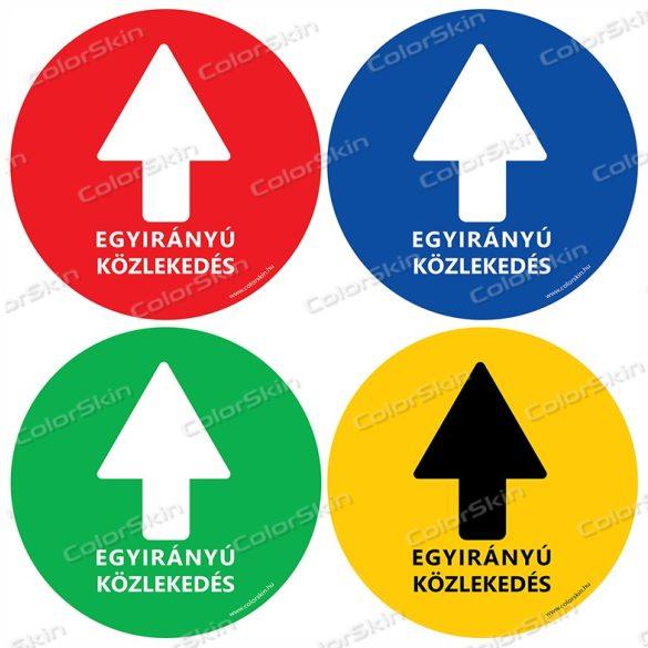 Kör padlómatrica - Kötelező haladási irány