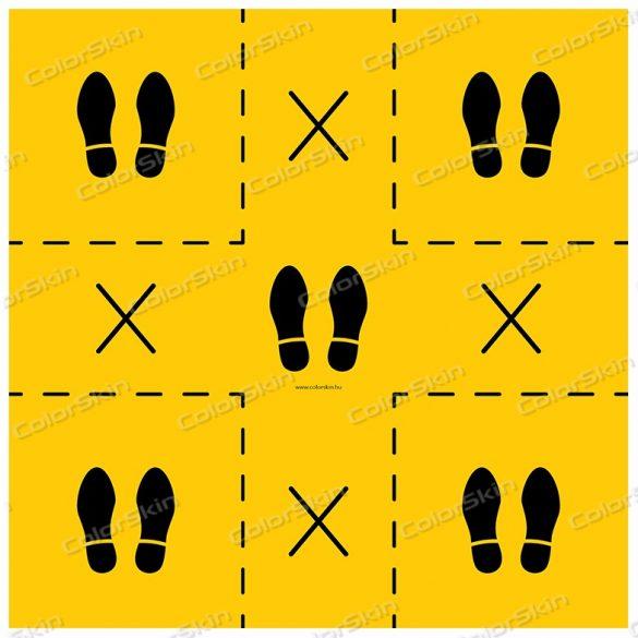 Lift padlójelölő matrica