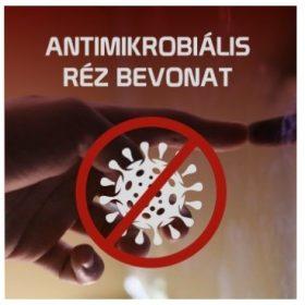 Antimikrobiális védőfólia réz bevonattal