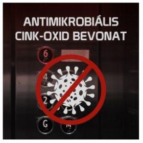 Antimikrobiális védőfólia cink-oxid bevonattal